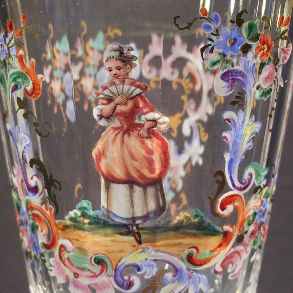 装飾ガラス「ロブマイヤー エナメル彩 ワイングラス」