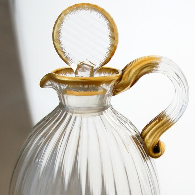 グラスウェア「金彩 ハンドル付 リキュールボトル」