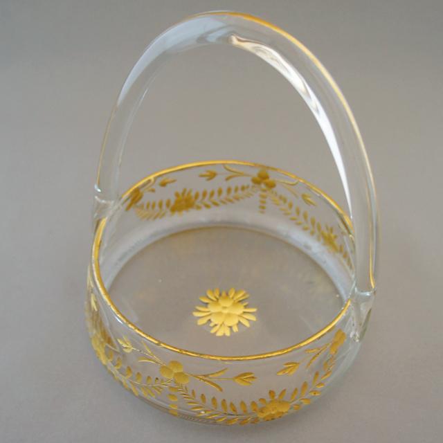 グラスウェア「金彩 ミニバスケット」