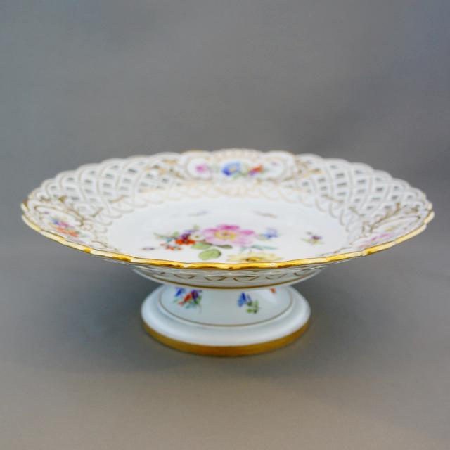 陶磁器「花文様 透かし彫り コンポートセット」