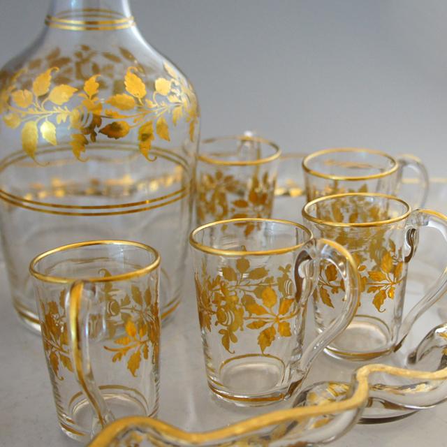 グラスウェア「金彩 リキュールセット」