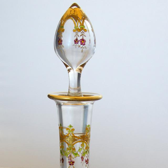 グラスウェア「金彩エナメル装飾 リキュールボトル」