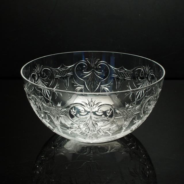 グラスウェア「グラヴィール装飾 鉢 直径13cm」