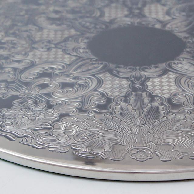 シルバー「テーブルマット 直径23cm (シルバープレート)」