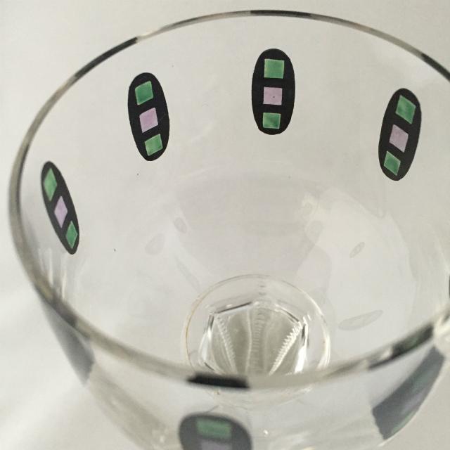 グラスウェア「エナメル装飾 ワイングラス 高さ21cm」