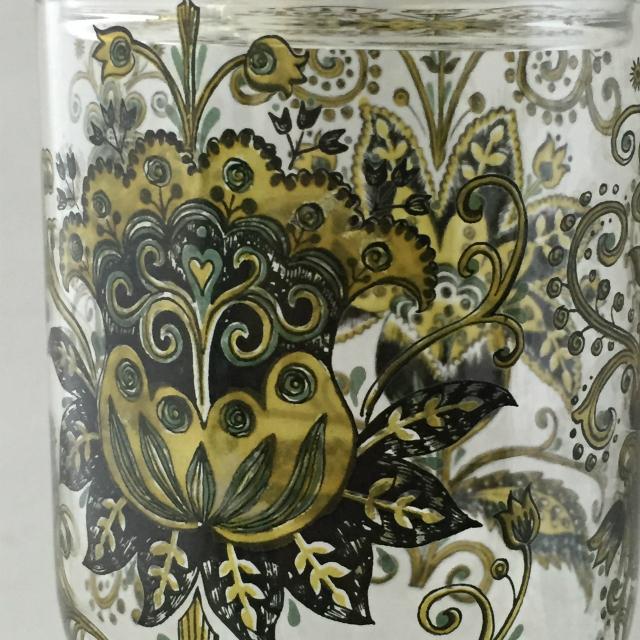 グラスウェア「エナメル装飾 蓋付きゴブレット」