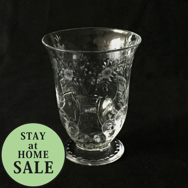 グラスウェア「グラヴィール装飾 ワイングラス 高さ9cm」