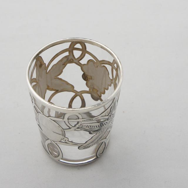 グラスウェア「葡萄文 リキュールグラス(小)高さ5.2cm」