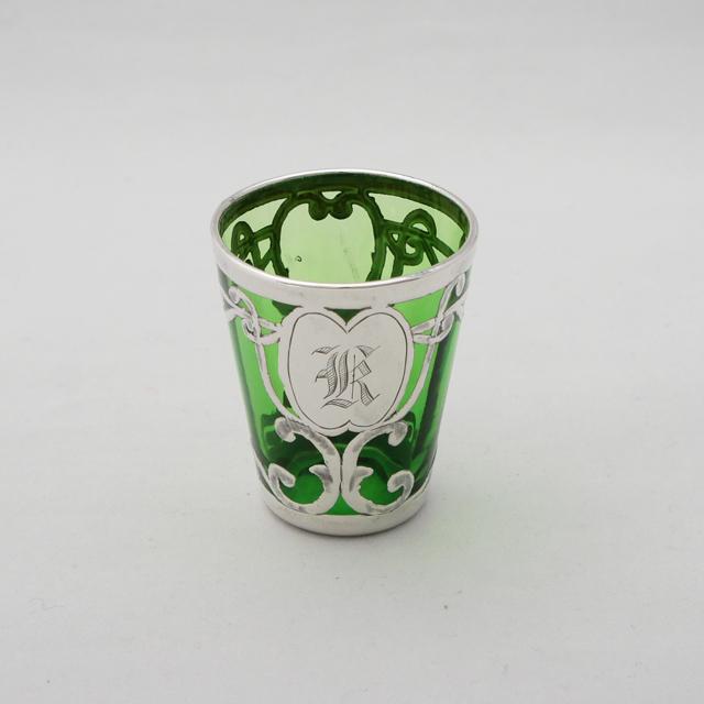 グラスウェア「緑ガラス リキュールグラス(小)」