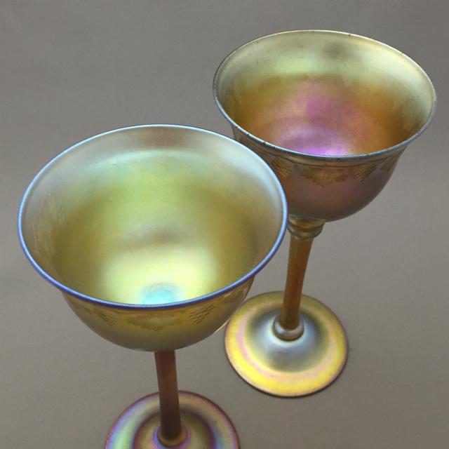 グラスウェア「葡萄文 ワイングラス 高さ15.2cm」