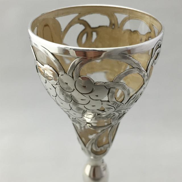 グラスウェア「葡萄文 リキュールグラス 高さ14.1cm」