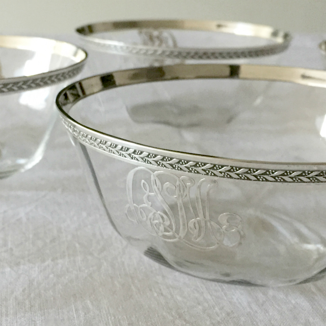 グラスウェア「イニシャル入り 鉢」