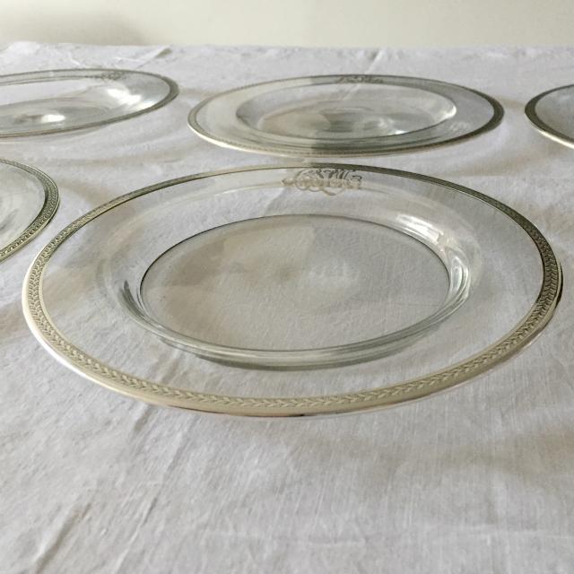 グラスウェア「イニシャル入り 皿」
