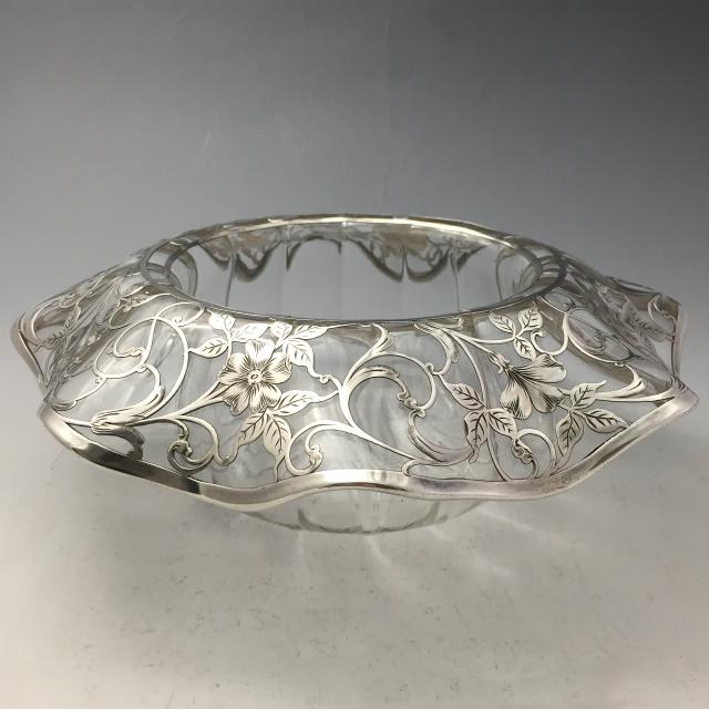 グラスウェア「花文様 鉢」