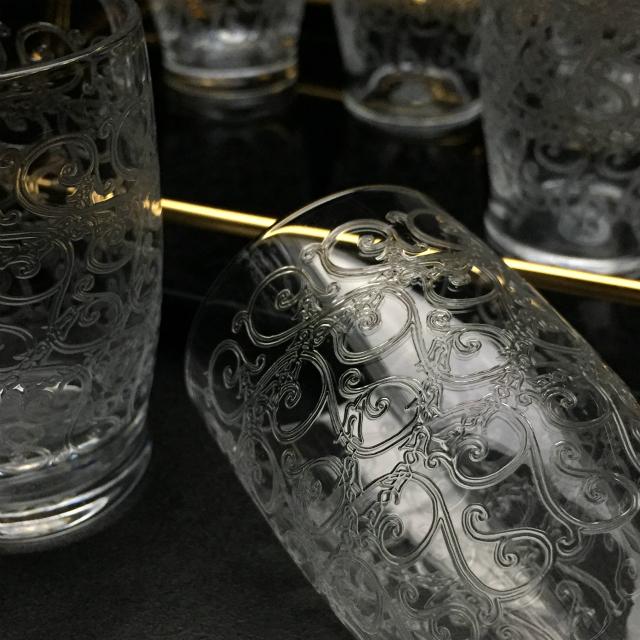 """グラスウェア「""""Gouvieu"""" グラスセット 8客 高さ7cm」"""