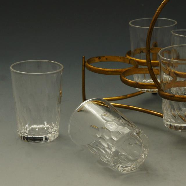 グラスウェア「リシュリー リキュールグラス8客セット ホルダー付き」