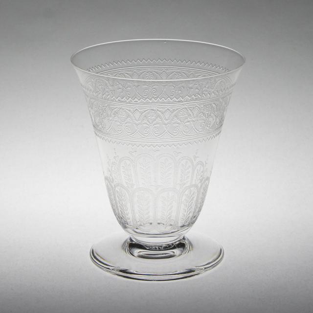 グラスウェア「レース文 グラス 高さ8.3㎝(容量約90ml)」