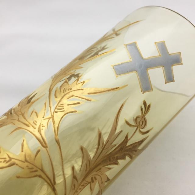 グラスウェア「アザミとロレーヌ十字文 金彩 タンブラー」