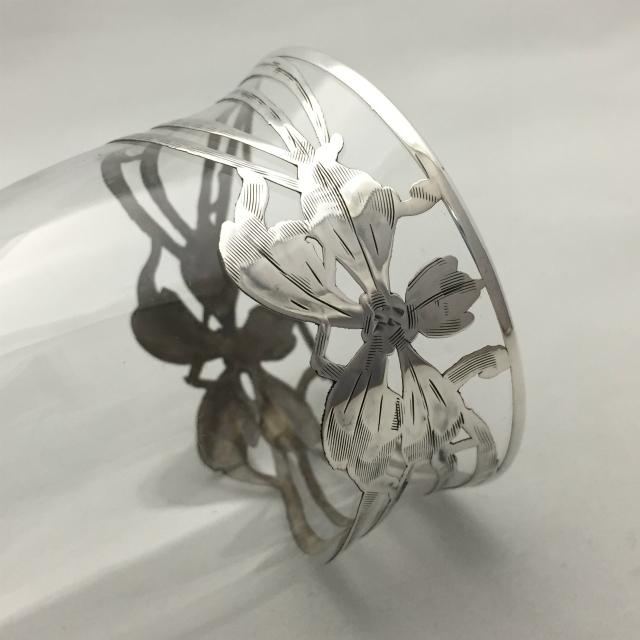 グラスウェア「銀巻き装飾 タンブラー(ロング)高さ12cm」