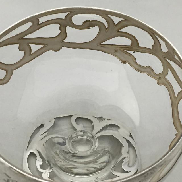 グラスウェア「銀巻き装飾 クープ(イニシャル刻印)」