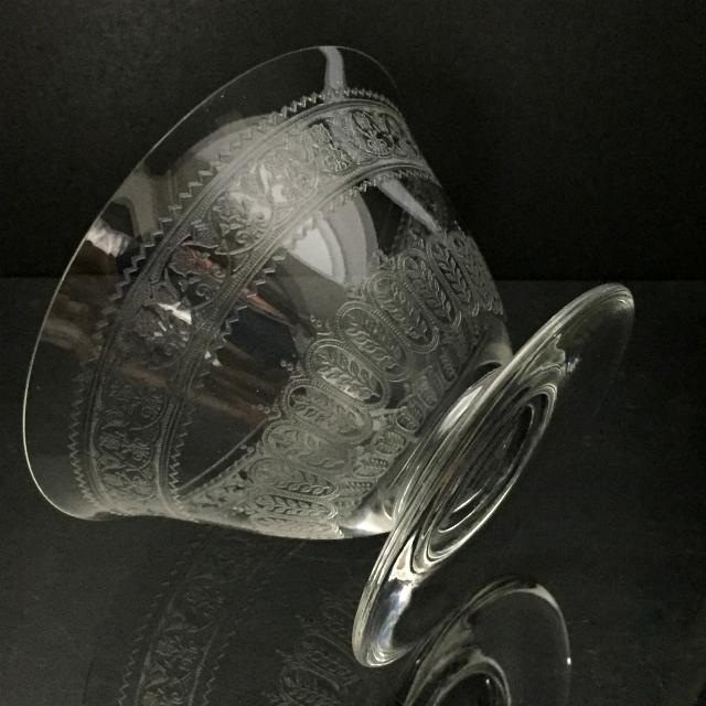 グラスウェア「レース文 クープ(容量約120ml)」