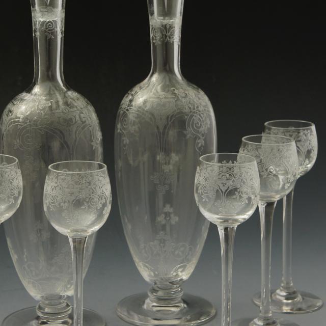 """グラスウェア「""""TREFLE"""" リキュールセット(ボトル2本&グラス6客)」"""