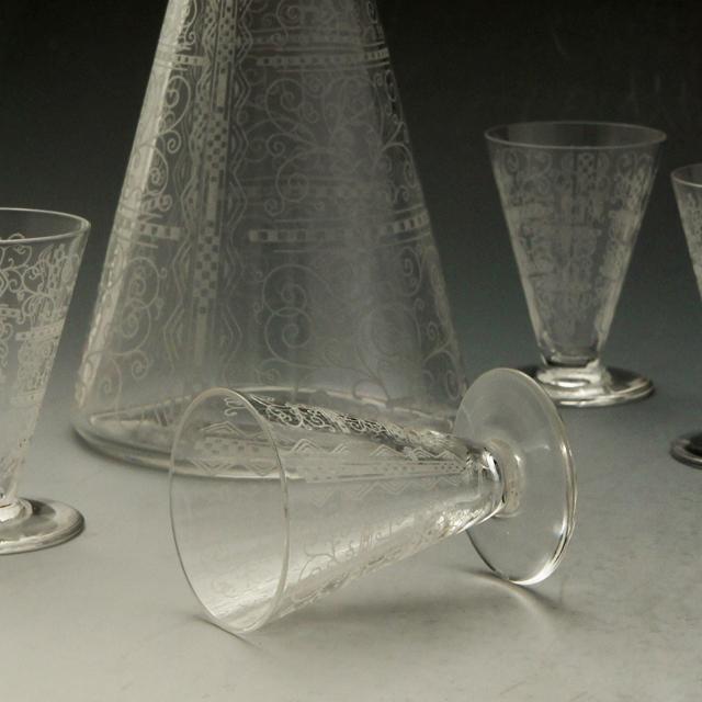 """グラスウェア「""""Lido"""" リキュールセット(ボトル&グラス6客)」"""