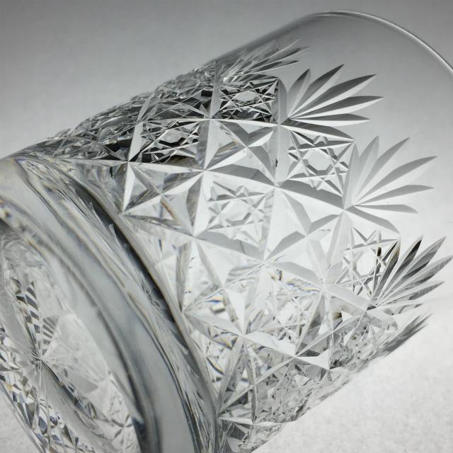 グラスウェア「カット文 ウイスキーグラス(小)高さ7.5cm(容量約120ml)」