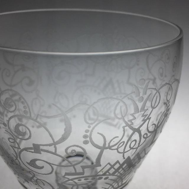 """グラスウェア「""""MYTILENE"""" ワイングラス 高さ9.5cm(容量約180ml)」"""