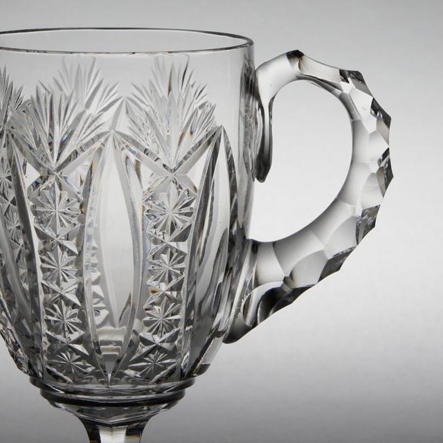 """グラスウェア「コンデ """"CONDE"""" ハンドル付ワイングラス 高さ9.5cm(容量約80ml)」"""