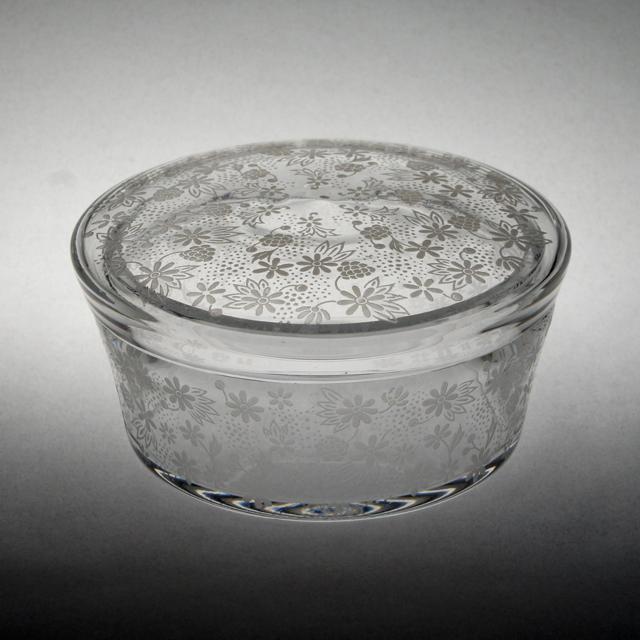 グラスウェア「蓋物 エリザベート」