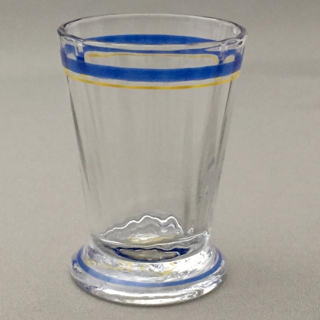 グラスウェア「エナメル彩 リキュールグラス(青&黄)高さ5cm(容量約15ml)」