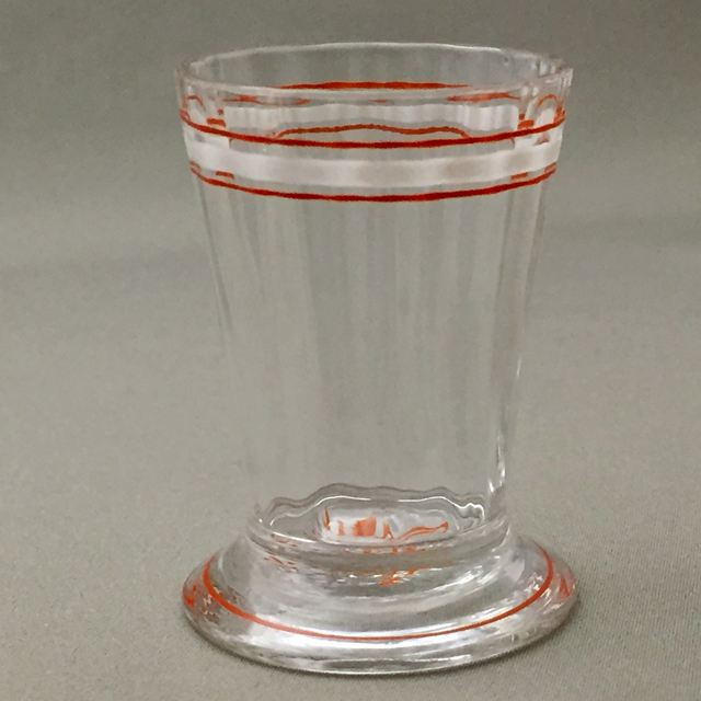 グラスウェア「エナメル彩 リキュールグラス(白&朱)高さ5cm(容量約15ml)」