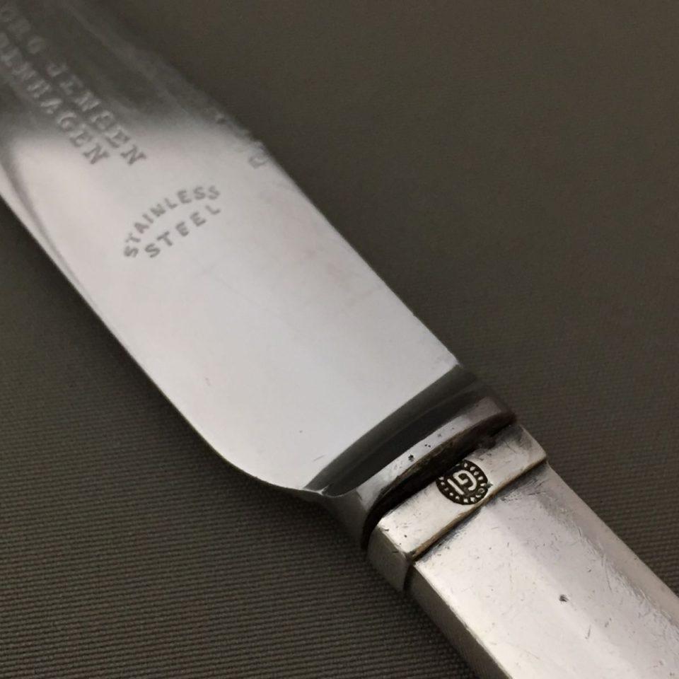 """シルバー「""""Parallel"""" ランチナイフ 長さ16.5cm」"""