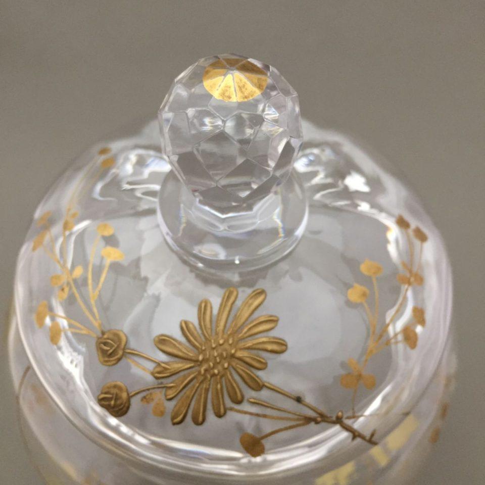 グラスウェア「金彩 野菊文 ボンボニエール」