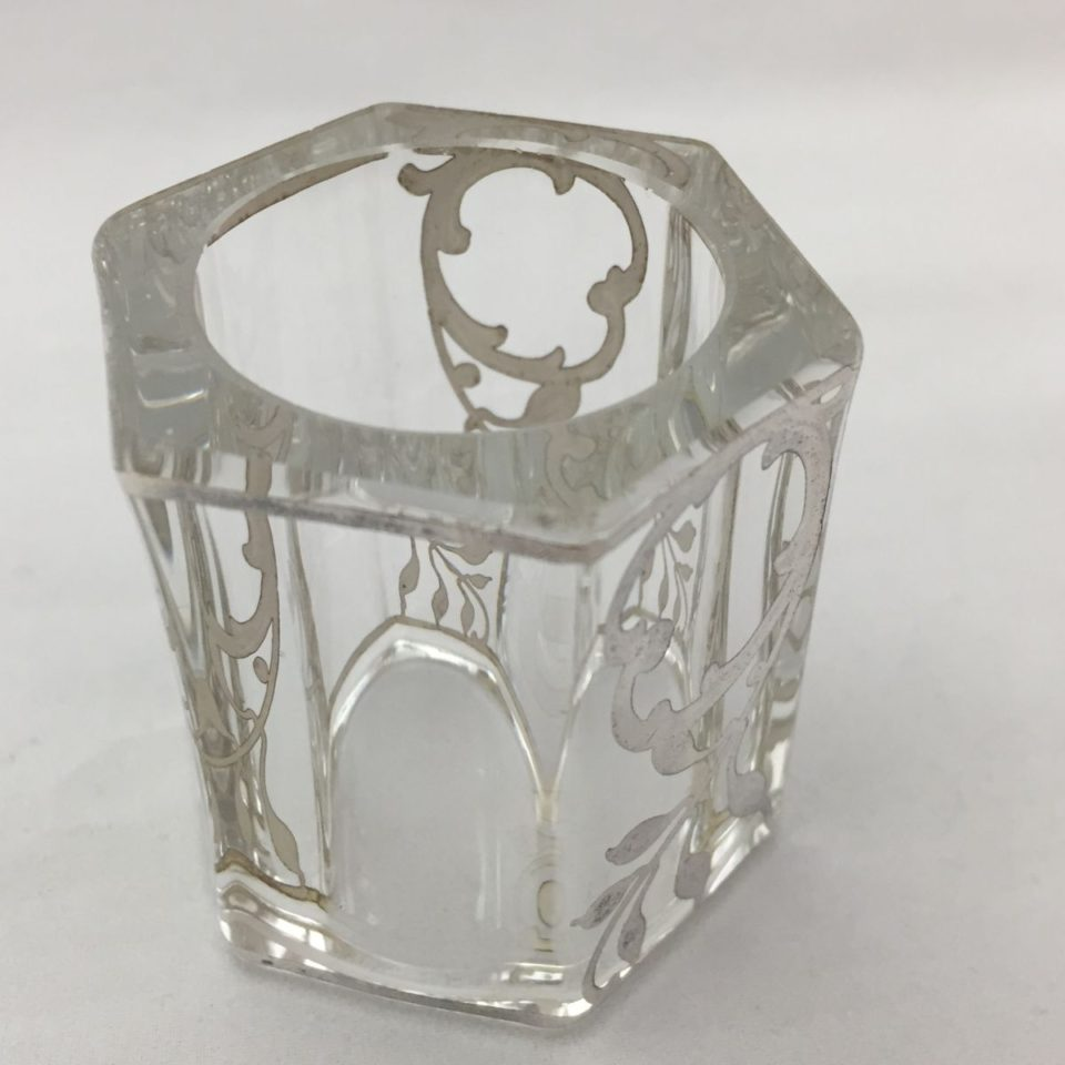 グラスウェア「銀巻き装飾 ナフキンリング」
