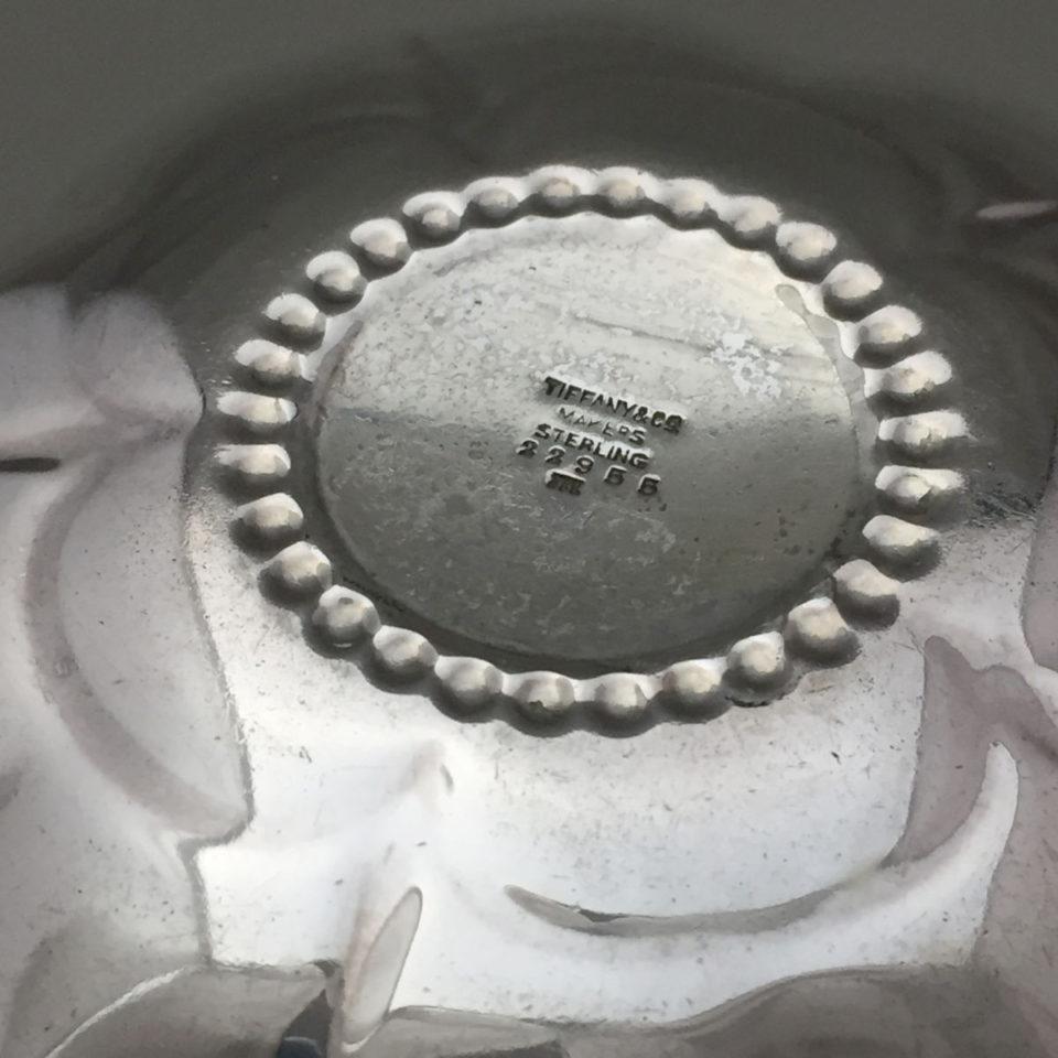 シルバー「銀製 フラワー ミニトレー 直径8.5cm」