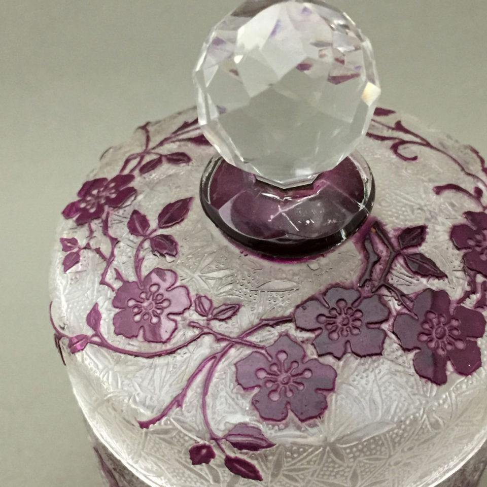 グラスウェア「エグランチェ ボンボニエール(紫色ガラス)」