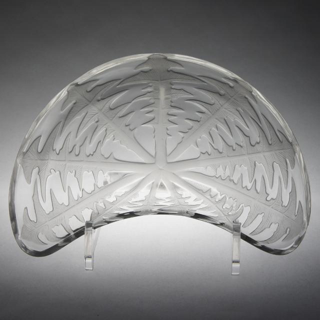 グラスウェア「クレセント皿 タンポポ」