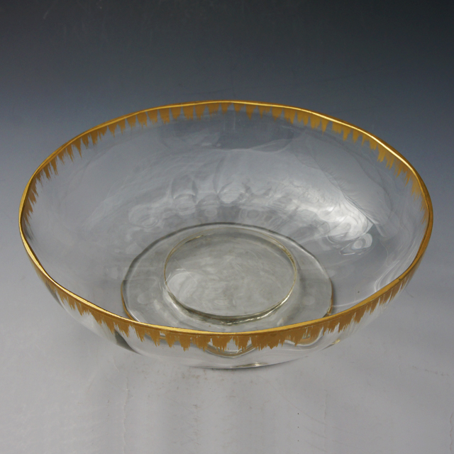 グラスウェア「金彩 大鉢 直径22cm」