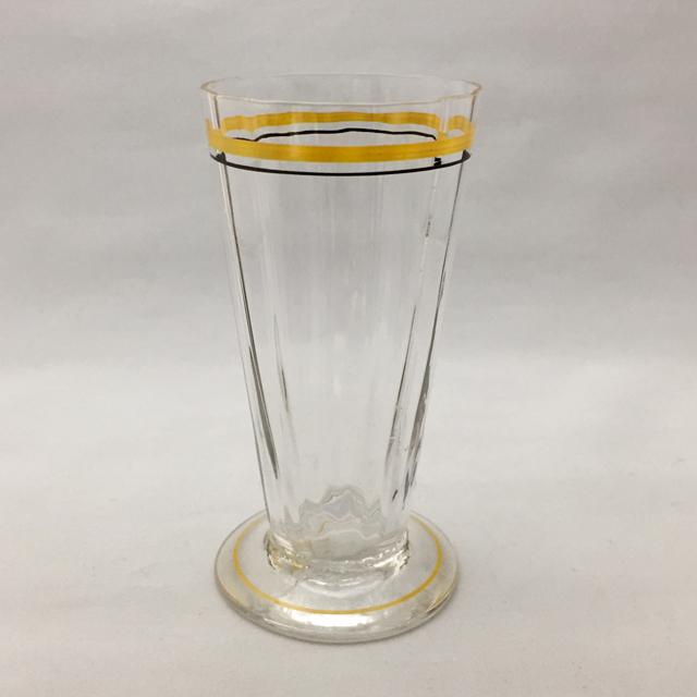 グラスウェア「フルートグラス(黄エナメル)高さ10.5cm(容量90ml)」