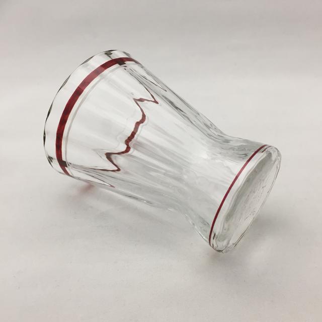 グラスウェア「ワイングラス(赤エナメル彩)高さ7.7cm(容量80ml)」