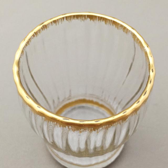 グラスウェア「金彩 ゴブレット 高さ6.7cm(容量80ml)」