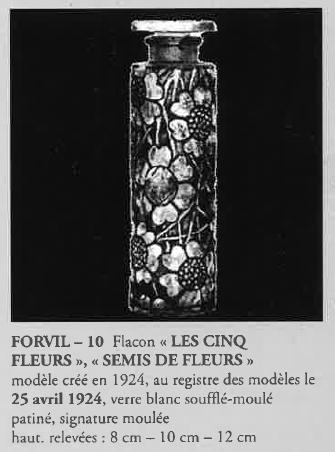 グラスウェア「香水瓶 5つの花 (FORVIL)」