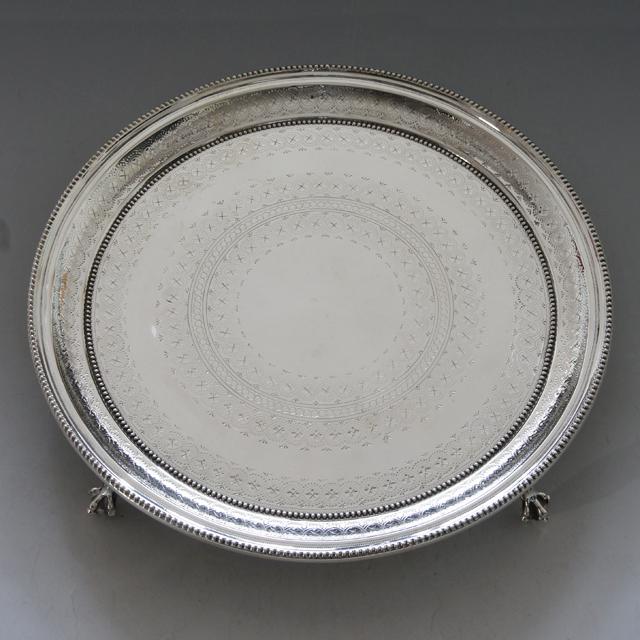 シルバー「Thomas Bradbury & Sons サルバ(大)直径30.3cm(シルバープレート)」