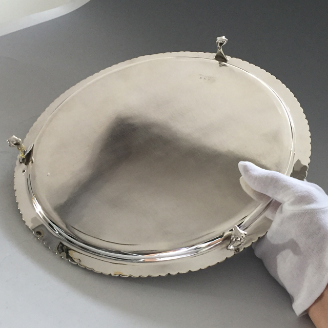 シルバー「サルバ(大)直径31.5cm(シルバープレート)」