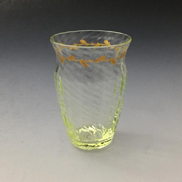 グラスウェア「ウランガラス 金彩 ゴブレット 高さ8cm」