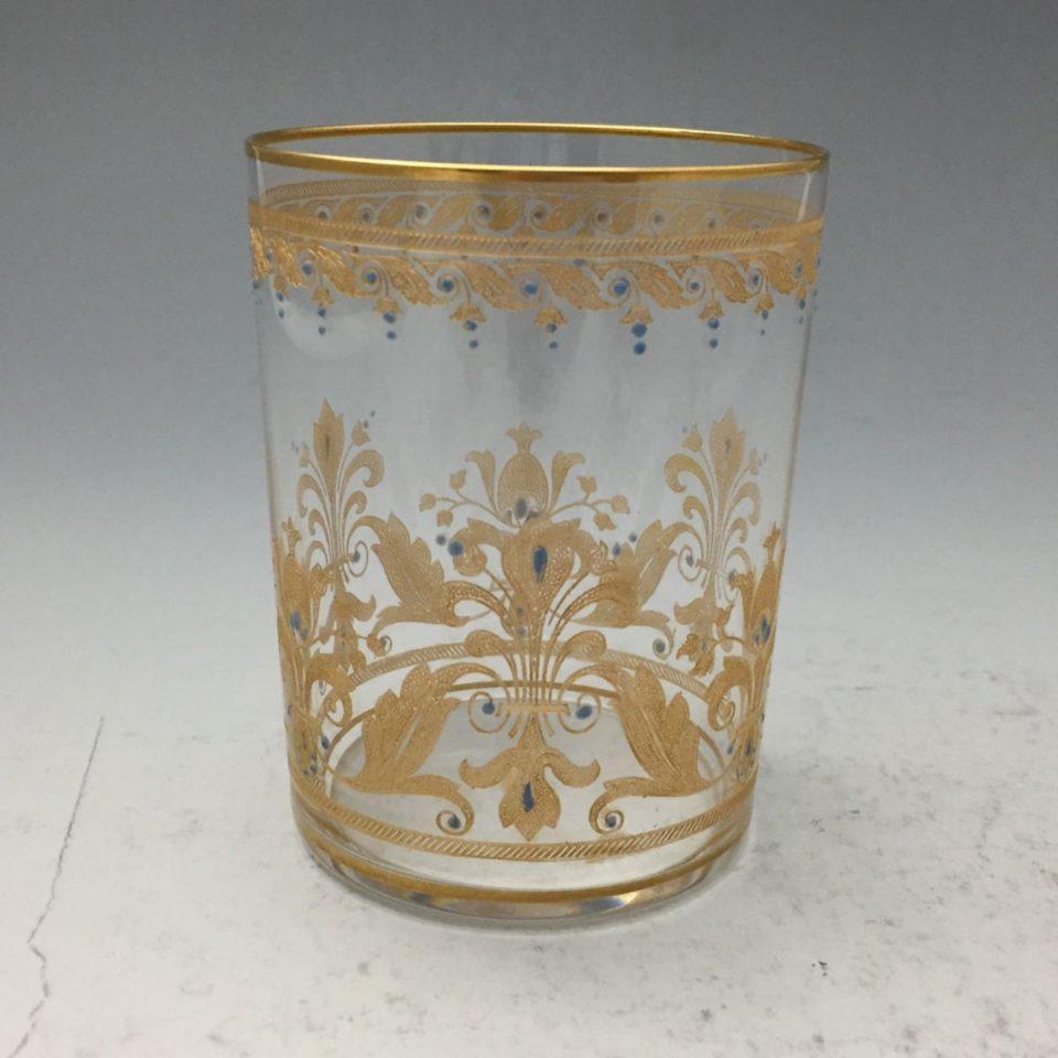 グラスウェア「金彩 エナメルジュール装飾 タンブラー」