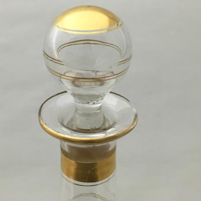 グラスウェア「金彩 リキュールボトル」