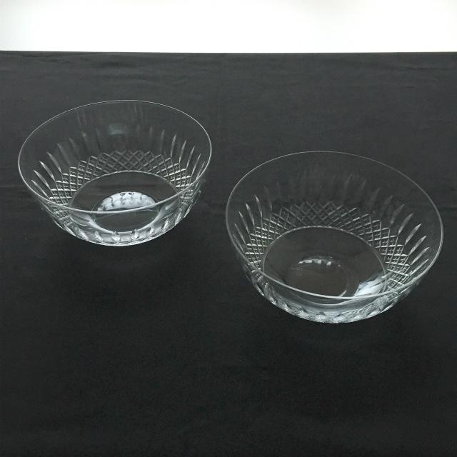 グラスウェア「カット装飾 鉢 2客セット 直径13cm」